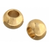 Metal Bead Round Solid 6mm Large Hole Gold